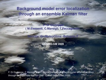 Background model error localization through an ensemble ... - Cosmo