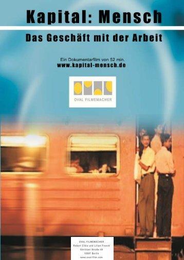 OVAL FILMEMACHER Robert Cibis und Lilian ... - Oval-Films.Com