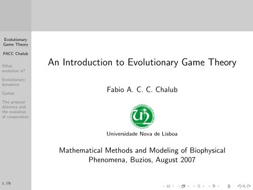 An Introduction to Evolutionary Game Theory