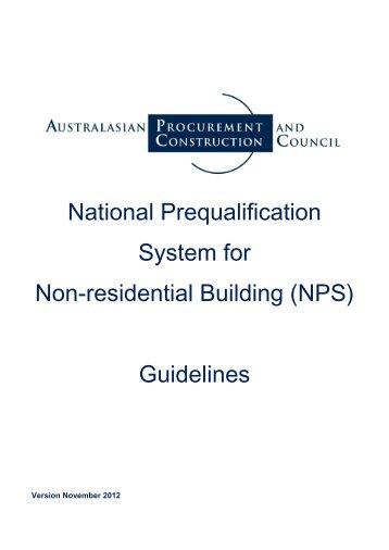 (NPS) Guidelines - Australian Procurement and Construction Council