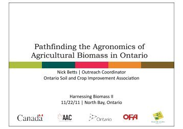 Nick Betts - Ontario Biomass Producers Co-op