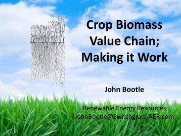 Crop Biomass Value Chain; Making it Work - John ... - Ontario Biomass