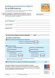 Bestätigung des hydraulischen Abgleichs für die KfW ... - CAD-therm