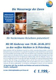 € 1.199,- - Neckermann Reisebüro