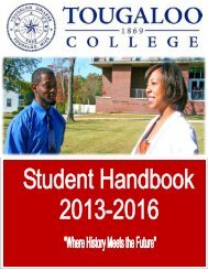 Student Handbook - Tougaloo College