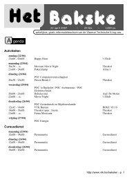 Activiteiten Cursusdienst - VTK
