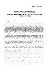 UNESCO Türkiye Milli Komisyonu İnsan Hakları İhtisas Komitesi