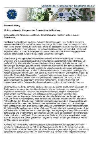 Pressemitteilung als PDF - Verband der Osteopathen Deutschland ...