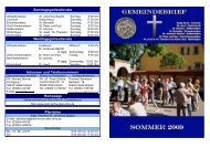 Sommer 2009 - Katholische Pfarrei St. Christophorus - Haldensleben