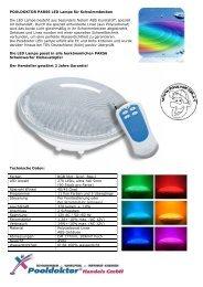 POOLDOKTOR PAR56 LED Lampe für Schwimmbecken Die LED ...