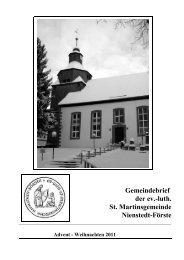 Gemeindebrief / Advent- Weihnachten 2000