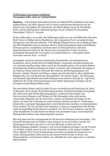 PM WM - Verband der Osteopathen Deutschland e.V.