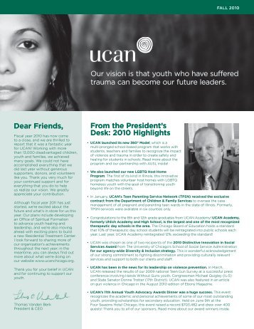 Fall 2010 Newsletter - UCAN