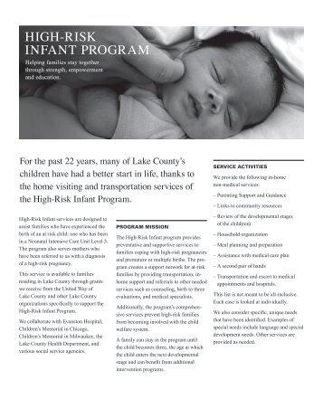 HIGH-RISK INFANT PROGRAM - UCAN