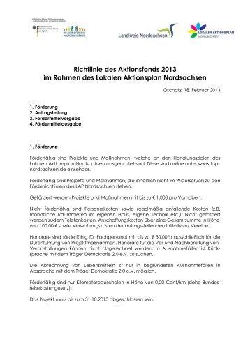 Vergaberichtlinien - Lokaler Aktionsplan Nordsachsen