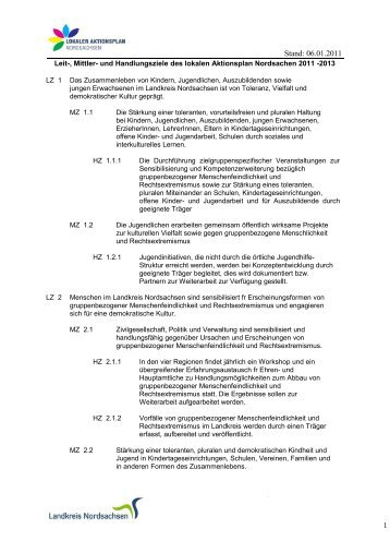 Stand: 06.01.2011 1 - Lokaler Aktionsplan Nordsachsen