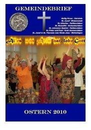 Ostern 2010 - Katholische Pfarrei St. Christophorus - Haldensleben