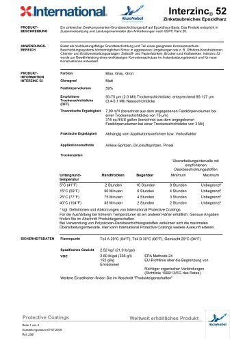 Interzinc® 52 - H & S Beschichtungssysteme