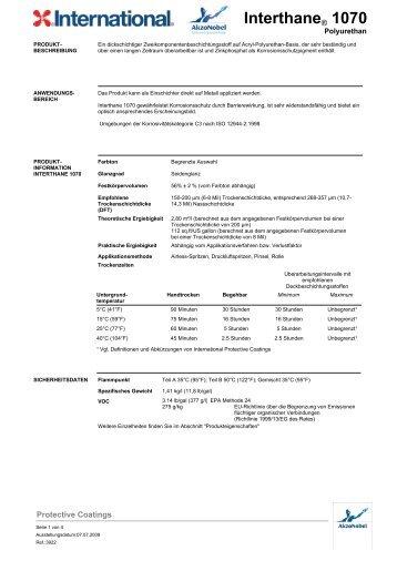 Interthane® 1070 - H & S Beschichtungssysteme