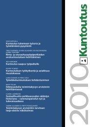 Lataa lehden 1/2010 pdf-versio tästä - Kuntoutussäätiö