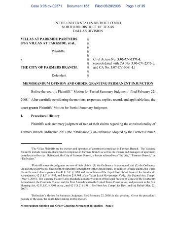 Order Granting Permanent Injunction - maldef