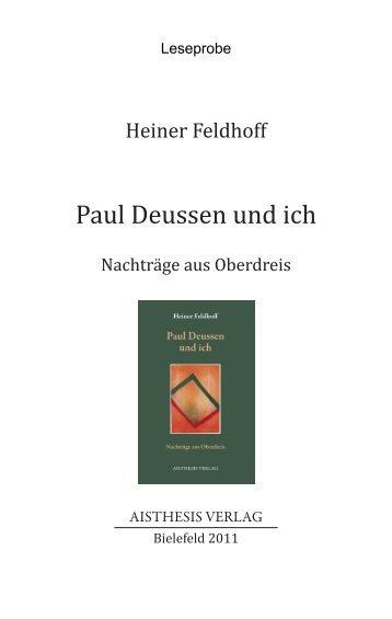 Paul Deussen und ich