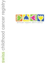 Annual Report 2011/2012 - Swiss Childhood Cancer Registry