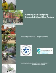 Planning and Designing Mixed Use Centers - Horsley Witten Group