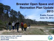 Open Space & Recreation Update - Town of Brewster, MA