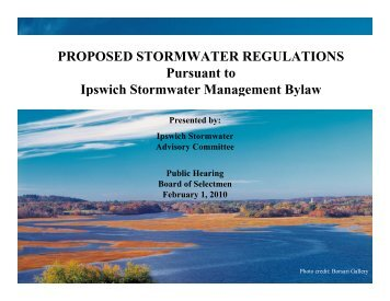 Overview Presentation of Ipswich Stormwater Management ...