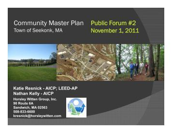 Community Master Plan Public Forum #2 Community Master Plan ...