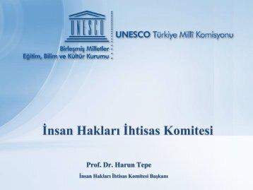 İnsan Hakları İhtisas Komitesi - Unesco
