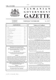 20997 - Gazette 07 October 2009 - Tasmanian Government Gazette