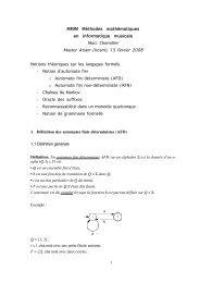 Notions théoriques sur les langages formels - Ehess ...