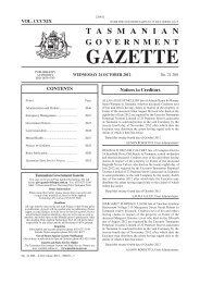 24 October 2012 - Tasmanian Government Gazette