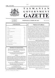 27 February 2013 - Tasmanian Government Gazette
