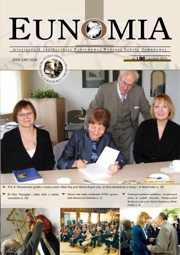 Eunomia 2012/01 - Państwowa Wyższa Szkoła Zawodowa w ...