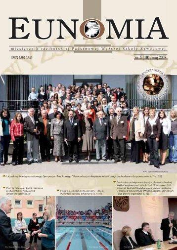 Eunomia 2008/05 (18) - Państwowa Wyższa Szkoła Zawodowa w ...