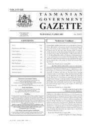 20932 - Gazette 15 April 2009 - Tasmanian Government Gazette
