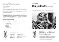 Preisliste 2012 Digitaldruck schwarz/weiss (PDF) - Berti Druck AG