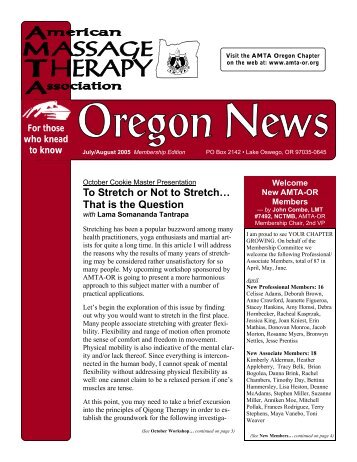 AMTA OR Web News - Oregon Chapter of The American Massage ...