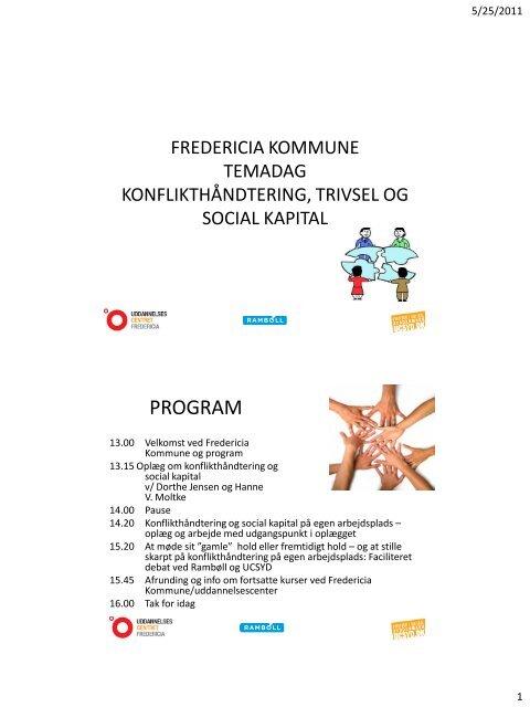 FREDERICIA KOMMUNE DIPLOM I KONFLIKTHÅNDTERING - ucf.dk
