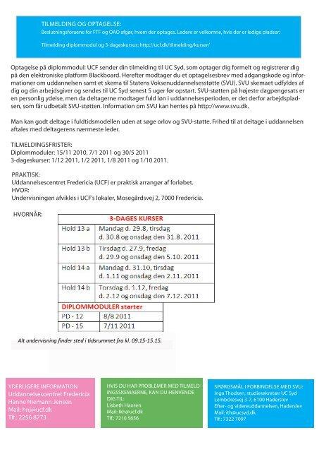 ændret tilbud i 2011 om konflikthåndtering til lærere ... - ucf.dk