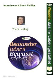 Interview mit Brent Phillips Theta Healing - I-Bux.Com