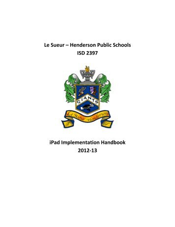 2012-13 iPad Implementation Handbook (3) - ISD 2397 Le Sueur ...