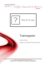 Trainingsplan - medo.check