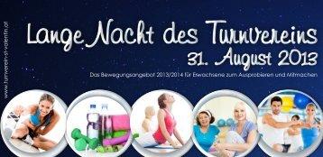 Lange Nacht des Turnvereins Flyer - Allgemeiner Turnverein St ...
