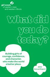 2010 Annual Report - Girl Scouts Today