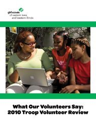 Troop Volunteer Review 2010 Report - Girl Scouts Today