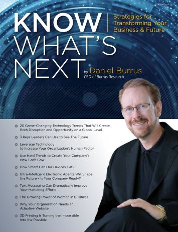 Know What's Next Magazine for 2013 - Daniel Burrus